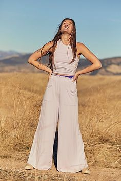 Butterfly Pose, Free People Store, New Shape, Small Waist, Wide Leg Pants, Legs, My Style, Clothes, Dresses