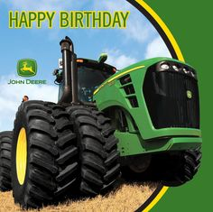 From the John Deere Party Supply Collection. Get your party revved up with these festive birthday napkins! Featuring a John Deere tractor and a sleek green and Birthday Images, Birthday Party Themes, Birthday Wishes, Birthday Ideas, Birthday Qoutes, Birthday Greetings, Birthday Cards, Tractor Birthday, Boy Birthday