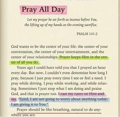 Prayer Should Be Like Breathing