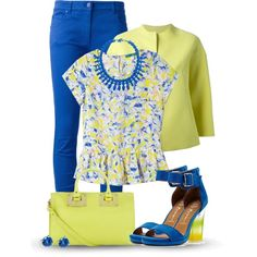"""Floral Top"" by jiabao-krohn on Polyvore"