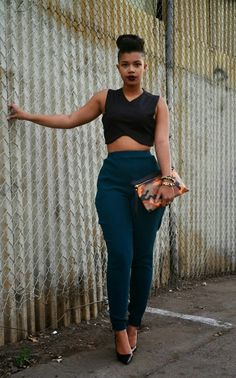 ecstasymodels: Camouflage Clutch + Emerald Pants She Recycles Fashion
