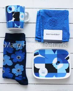Happy Returns, Marimekko, Lunch Box, Photo And Video, Blue, Color, Towels, Objects, Blue Nails