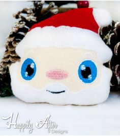 Christmas may be over but this Santa stuffie head embroidery design is ready to be stitched out!