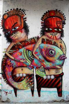 Street art by Nice Naranja #streetart jd