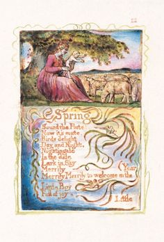 William Blake Songs of Innocence and Experience, Spring, Tate Publishing