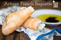 Our Best Bites Baguette from Artisan Bread in 5 Minutes a Day. The dough takes 5 minutes to make then sits in your fridge until you're ready to bake it!