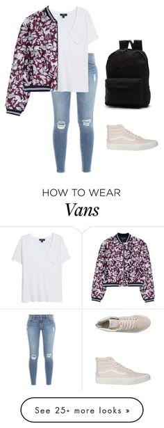 """""""Untitled #373"""" by bibriezcaguadalupe on Polyvore featuring Frame Denim, MANGO, Markus Lupfer, Vans, women's clothing, women, female, woman, misses and juniors"""
