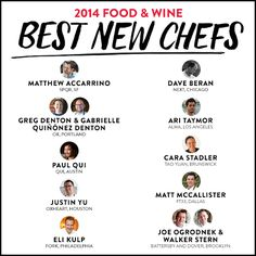 Meet the 2014 F&W Best New Chefs!