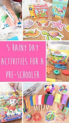 5 Rainy Day Activities For A Pre-Schooler