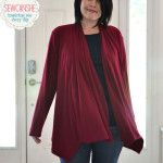 Free Scarf Neck Cardigan for women sewing pattern by Swoon Patterns http://swoonpatterns.com/shop/scarf-neck-cardigan/