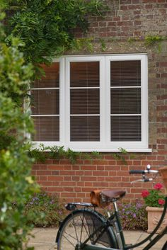 Check out our high quality uPVC Casement Windows. Check out our range of uPVC windows - get a free quote today! Green Windows, Front Windows, Casement Windows, House Windows, Windows And Doors, Cottage Lounge, Window Glazing, Hillside House, Grey Doors