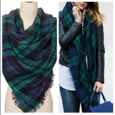 Green Blanket Scarf Brand new scarfs. Buy one for $25, two for $45 , three for $65 and four for $85. Please do not buy from this listing. Please comment and I will make you a new listing. Thanks. Accessories Scarves & Wraps