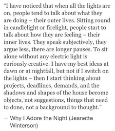 """Why I adore the night"" 101717"