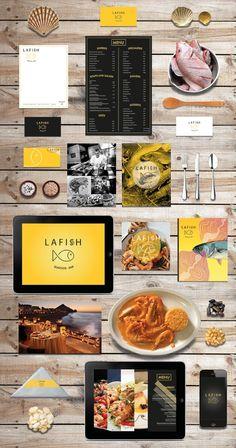 Seafood restaurant. Visit: http://hey-renata.tumblr.com/post/59911645395/branding-lafish-seafood-restaurant