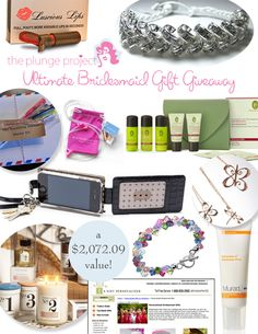 Ultimate Bridesmaid Gift Giveaway -- valued at over $2,000!
