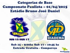 Blog do Bellotti - Esporte Clube Santo André: Categorias de Base: Jogos do final de semana