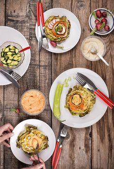 Provereni recepti by Maja Babić: Večera sa humusom - povrće na sprat