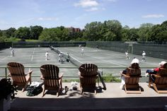 Tennis courts at the NYAC's Travers Island.