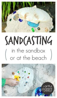 Sandcasting in the sandbox or at the beach