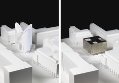 Competition entries for a Berlin communal prayer and teaching hall for Christian, Jews and Muslims.