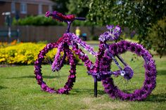 Paarse Bloemen Fiets - Purple Flower Bicycle during London 2012 Olympic Cycling Time Trial #fleurig