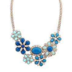 Moda colorida Gemstone pingente de flor para mulheres