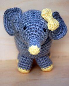 New amigurumi elephant baby born at Happy Handmade Headquarters!