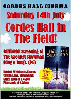 cordes hall outdoor cinema the greatest showman