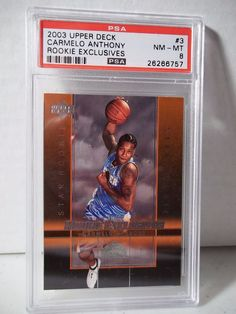 12954ae0c8e1 2003 Upper Deck Carmelo Anthony  3 Basketball Card for sale online