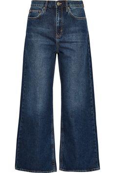 4b8ba04ebfc M.I.H JEANS Caron Cropped Mid-Rise Wide-Leg Jeans.  m.i.hjeans