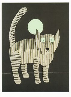 "Tomi Ungerer, Cardboard Kitty. From the book ""Cats as Cats Can"" (Roberts Rinehart, 1997)"