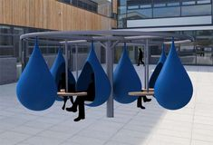 Liquid Study Spaces - The Droplet Outdoor Workspace Encourages Students to Get…