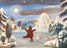 The skating duo. Winter Illustration, Children's Book Illustration, Illustration Courses, Funny Frogs, Winter Kids, Animal Drawings, Traditional Art, Illustrators, Character Design