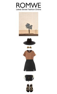"""""""Untitled #386"""" by tamara-40 on Polyvore featuring Topshop, Dolce&Gabbana, Clyde, romwe, shirt, fashionset and 2015"""
