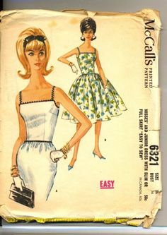 1962 Pattern McCalls Style Dress Full Skirt or by TheIDconnection, $22.00