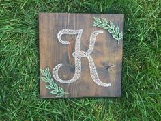 A personal favorite from my Etsy shop https://www.etsy.com/listing/252819610/made-to-order-string-art-initial-with