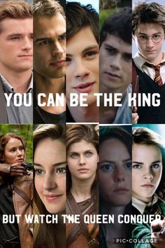 'You can be the king,but watch the queen conquer' Movie Quotes, Book Quotes, Funny Quotes, Hunger Games, Fandom Quotes, Girl Power Quotes, Harry Potter Puns, Harry Potter Pictures, Book Memes