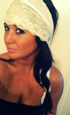 custom made lace head scarf