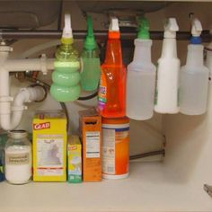 Tame Clutter Under the Sink. Does cabinet clutter give you a sinking feeling? Ease the tension with this Tame Clutter Under the Sink. Does cabinet clutter give you a sinking feeling? Ease the tension with this home organization hack. Bathroom Cabinet Organization, Home Organization Hacks, Bathroom Storage, Diy Kitchen, Kitchen Storage, Kitchen Cabinets, Awesome Kitchen, Kitchen Sink, Kitchen Decor