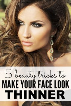 Want to look thinner without committing to a healthy diet, going for a workout, or (worse) giving up wine? And that's why I put together this list of easy make-up tricks that will teach you (and me!) how to make your face look thinner instantly. Beauty Kit, Beauty Hacks, Ideal Beauty, Diy Beauty, Makeup Tips, Eye Makeup, Makeup Ideas, Look Thinner, Beauty Regimen