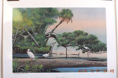 "NEW LIMITED EDITION FINE ART LITHOGRAPH BY NEIL ADAMSON ""HOMOSASSA RIVER"" #Realism"