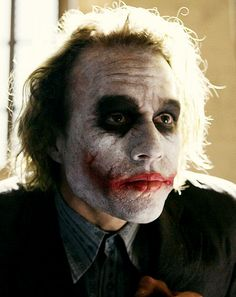 Heath Ledger as The Joker. One of my favorite performances. He was brilliant.