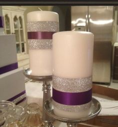 Glitter Candles @Laurie Campos