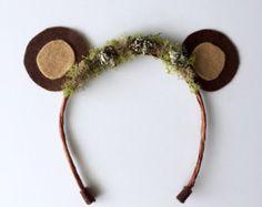 Oso orejas diadema... Oso orejas foto Prop... Orejas de Woodland