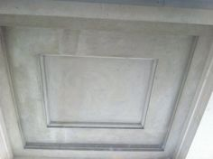 Northern Portico (one of seven) plasterwork complete