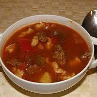Prawdziwy węgierski bogracz Chili, Beef, Food, Meat, Chile, Essen, Meals, Chilis, Yemek