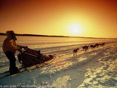 El amanecer en el polo artico