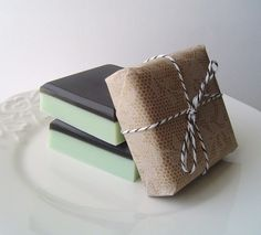 Moroccan Mint Square Bar Soap Glycerin and Goats Milk by KcSoapsNmore, $4.00