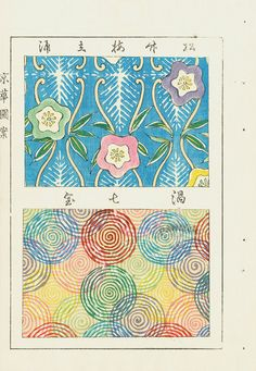 Japanese Woodblock Sample Designs Japanese Textiles, Japanese Patterns, Japanese Prints, Japanese Design, Japanese Art, Textures Patterns, Print Patterns, Japanese Drawings, Japanese Painting
