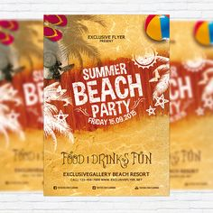 Summer Beach Party Vol.4 - Premium Flyer Template + Facebook Cover http://exclusiveflyer.net/product/summer-beach-party-vol-4-premium-flyer-template-facebook-cover-2/